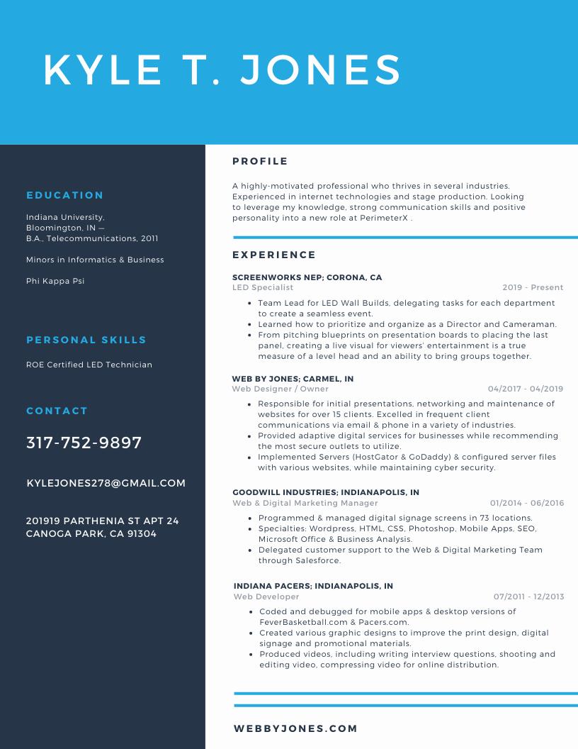 WebByJones-Resume-Color-Scheme
